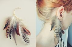 FEATHER earcuff..I can make this, and with the right updo and the right feather combo this would be awesome
