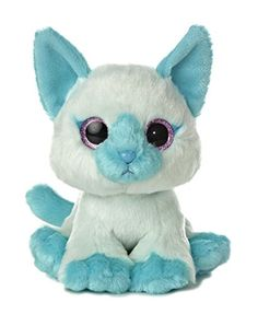 """Measures 8"""" tall Sparkly glitter eyes and colorful plush Aurora's safety standards include double-bagged bean filling and lock-washer eyes"""