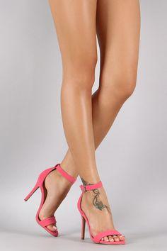 Shoe Republic LA Nubuck Quilted Ankle Strap Heel