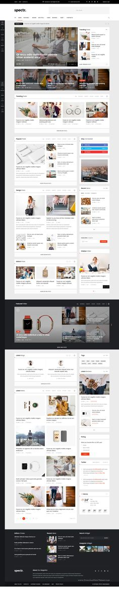 Spectr is a responsive #HTML Template best suitable for news, #newspaper, magazine or review #websites. It comes with 7 different home page layouts, 9 different post type layouts including gallery, review, SoundCloud audio or video post types.
