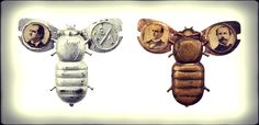 Gold and Silver Bugs from the 1896 Presidential Election