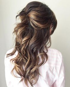 30 Half Up Half Down Wedding Hairstyles Ideas Easy | Partial updo ...