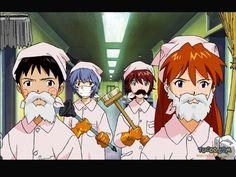 Shinji Ikari, Rei Ayanami, Hikari Horaki(?), Asuka Langley, Service in Disguise Costum, Gainax, Neon Genesis Evangelion