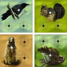 Crosman - Varmint Targets Tiermotiv Zielscheibe - 24,5 x 23,5cm - 20 Stk