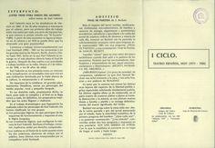 I Ciclo Teatro Español Hoy en la Casa de Cultura de Cuenca, 28 de Noviembre al 17 de Diciembre 1980 Organizado por la Asociación de Amigos del Teatro de Cuenca Programa #Cuenca #Teatro #AsociacionAmigosTeatroCuenca