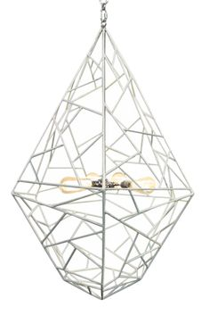 "Asscher Chandelier - Cast Resin; Includes Canopy & 3-Foot Chain *Four Bulbs Not to Exceed 60W  27.5""Diameter x 41.25""H"