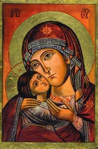 Total Consecration of oneself to Jesus Christ, Wisdom Incarnate, through the hands of Mary according to St. Louis Marie de Montfort: D. Religious Pictures, Jesus Pictures, Religious Icons, Religious Art, Blessed Mother Mary, Divine Mother, Byzantine Icons, Byzantine Art, Madonna Art