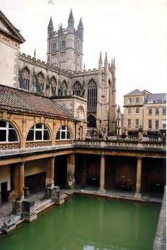 Roman Baths in Bath, United Kingdom  Amazing there are still working Roman water distribution systems!  Quality work I'd say.