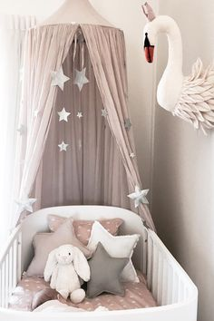 Inspiration from Instagram -Temika Trimboli @temikatrimboli - pastel girls room ideas, pink and grey girls room design, kidsroom decor, girls kidsroom, powder, nursery