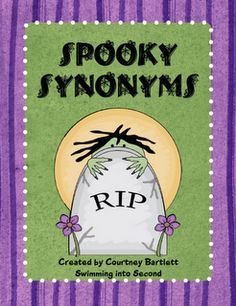 Spooky Synonyms - Practice synonyms with this Halloween matching game. 5 pages Speech Language Pathology, Speech And Language, Language Arts, Halloween Books, Holidays Halloween, Halloween Activities, School Holidays, Halloween Fun, School Fun