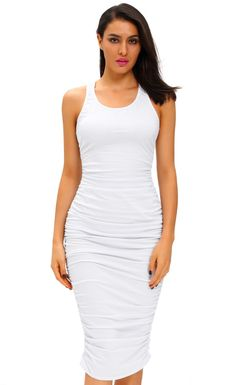 Fitted Sexy Bodycon Racer Tank Dress