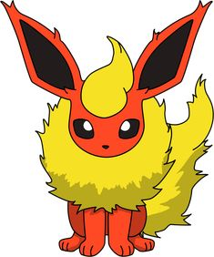 Flareon Sitting PNG by ProteusIII.deviantart.com on @DeviantArt