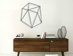 Geometric wall art, black wall decor, metal wall art, wall decor living room, wall decor office, wall hanging, geometric ornament, glyphs #ad #wallart #walldecor #decor