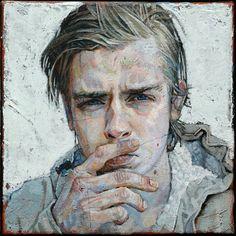 Daniel Barkley - Vincent B, l'hiver II. Acrylic and gold leaf on canvas (2011)