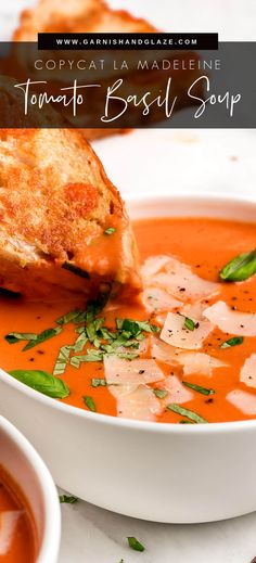 You'll never buy canned soup after trying this copycat incredibly Creamy Tomato Soup! This velvety and flavorful soup is the best way to use up those garden tomatoes and warm up on a cold rainy day! #tomatosoup #tomatoes #soup | GarnishandGlaze.com