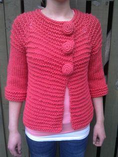 Ravelry: Project Gallery for Mona's Jacket pattern by Mags Kandis Crochet Cord, Crochet Jacket, Crochet Poncho, Crochet Cardigan, Crochet Hats, Knit Cardigan Pattern, Jacket Pattern, Knitting Patterns Free, Free Knitting