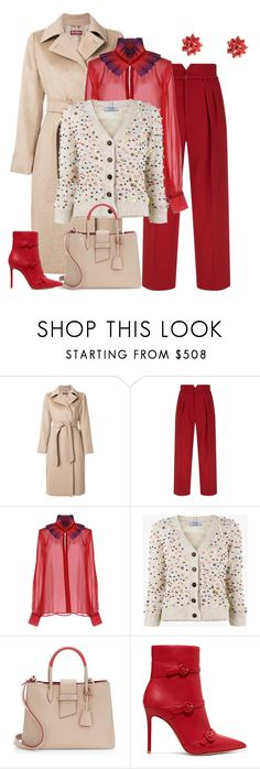 """outfit 7066"" by natalyag ❤ liked on Polyvore featuring MaxMara, RED Valentino, Capucci, Prada and Gianvito Rossi"
