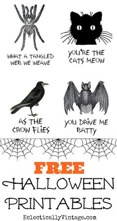 Free-Halloween-Printables from Eclectically Vintage