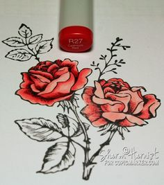 Coloring and Shading Flowers by Sharon Harnist April 17, 2012