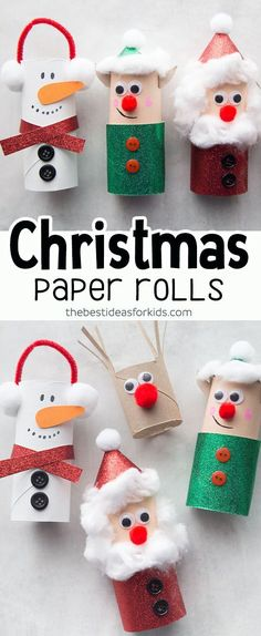 Christmas Art for Kids - Toilet Paper Roll Christmas Art. Children will ., Christmas Art for Kids - Toilet Paper Roll Christmas Art. Children will be # # children # toilet paper roll # christmas art. Christmas Toilet Paper, Christmas Art For Kids, Toilet Paper Roll Crafts, Simple Christmas, Christmas Diy, Diy Paper, Christmas Crafts For Preschoolers, Kindergarten Christmas Crafts, Christmas Paper Crafts