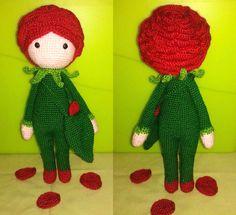 Rose Roxy doll made by Veronica A - crochet pattern by Zabbez