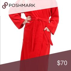Premium Quality Adult Terry/Velour Hood  Bathrobe, Terry on the inside for maximum absorbency and velour on the outside for classy look, these robes are perfect for someone who does not want to sacrifice style for comfort. These robes are made of 100% Turkish Cotton and feature full length sleeves, two patch pockets, self-fabric belt and a roomy hood for maximum comfort. This robe will become a welcome layer after a shower or in the end of a long day. SHAKIR Intimates & Sleepwear Robes