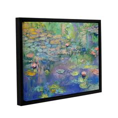 Water by Michael Creese Floater Framed Painting Print on Gallery Wrapped Canvas