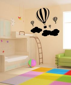 vinyl hot air balloon decal for baby M's room $34.95