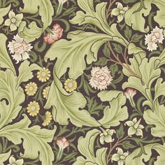 The Original Morris & Co - Arts and crafts, fabrics and wallpaper designs by William Morris & Company | Products | British/UK Fabrics and Wallpapers | Leicester (DARW212542) | Archive II Wallpapers