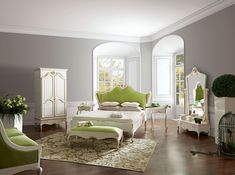 Image result for glam bedrooms with green beds