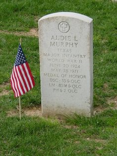 """Murphy recognized for being America's most decorated hero of WWII returned home to a hero's welcome. Actor James Cagney invited him to Hollywood & Murphy went on to appear in more than 40 movies including his autobiographical film """"To Hell & Back."""" & wrote many country & western songs.He joined the U.S. Army Reserves in Texas in 1950 & ended up a major, which is the rank on his grave marker.Murphy suffered from Post Traumatic Stress Disorder."""