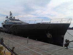 #sanamyacht M/Y Sanam Length 171.92ft /52.4m Builder Palmer Johnson Exterior Designer Nuvolari & Lenard Interior Design Nuvolari & Lenard Built | Refit 2016 Model Custom Beam 31.17ft /9.5m Gross Tonnage 495 Tonnes Draft 8.01ft /2.44m #superyacht #naval #yacht #design