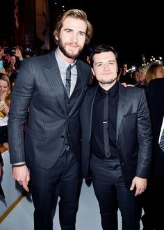 Liam Hemsworth and Josh Hutcherson attend 'The Hunger Games: Mockingjay Part 1' film premiere in Los Angeles, California on November 17th, 2014.