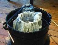 Cheese making page with Homemade Press