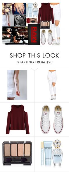 """Shavannah  - Attacking Jericho With Injured Back"" by makhinegankaller14 ❤ liked on Polyvore featuring Converse, Marc Jacobs, WWE, NARS Cosmetics and wweoc"