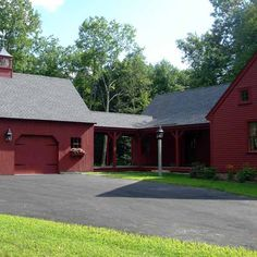 Exterior of Post And Beam Barn And House