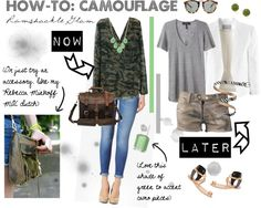 """How-To: Camouflage"" by ramshackleglam ❤ liked on Polyvore"