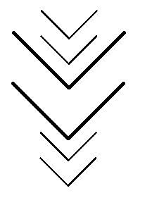 next tattoo i'm going to get. the two big arrows are for my parents, then the 4 smaller arrows represent me and my 3 sisters.