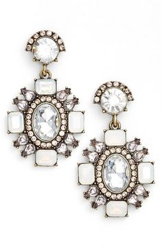 Top off any look with these stunning drop earrings inspired by the grand chandeliers of decades past. @Nordstrom #Nordstrom