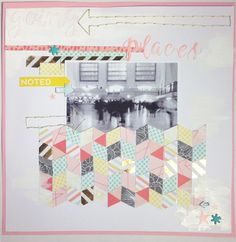 Scrapbooking Herringbone Background Tutorial | The Paper Curator