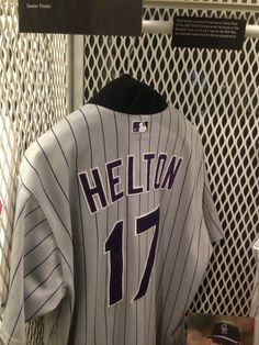 Not too much love (yet) for the Rockies at the National Baseball HOF and Museum in Cooperstown, NY but here is a game worn Todd Helton jersey from game 2 of the 2007 World Series!