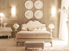 All White Bedroom - I love this!