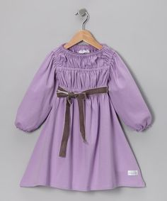 Take a look at this Lavender Stella Dress - Toddler & Girls by Addie & Ella on #zulily today!