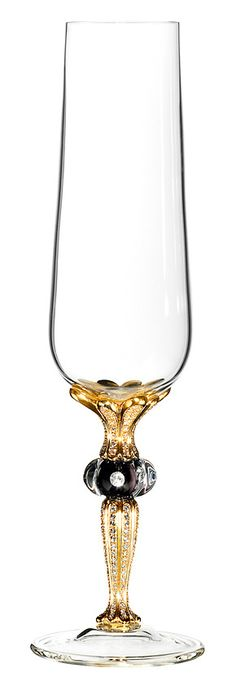 bejeweled & gold plated Champagne glass