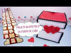Tarjeta Kilometrica en Forma de Cubo -San Valentín- Manualidades aPasos - YouTube