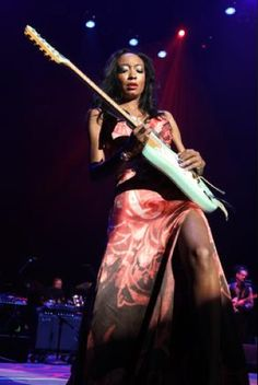 Malina Moye plays at Chuck Berry Tribute Concert for Rock & Roll Hall of Fame. I was there, she was amazing!
