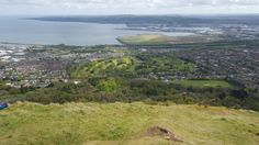 View from Cave Hill over Belfast Lough Central Library, Buntings, Belfast, Northern Ireland, Cave, Irish, Europe, History, Outdoor