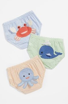 seersucker under the sea diaper covers.  serrrriously cute