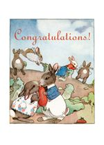 *New Cards* Gardening Hugs & Kisses Illustrator: Fanny Y. Cory Nature Rabbits Romance'