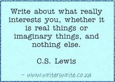 Writers Write - Quotable - C.S. Lewis
